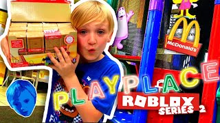 UNBOXING ROBLOX TOYS SERIES 2 INSIDE MCDONALD'S PLAYPLACE / BEING LOGAN / JAZWARES TOYS