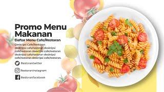 Desain Video Promosi Food Menu Promo Video Iklan Daftar Menu Makanan Marketing Restoran Di Lapak Satuhati Lapak Online Bukalapak