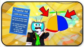 3 Million Honey Propeller Hat Buffs Are Crazy Awesome - Roblox Bee Swarm Simulator