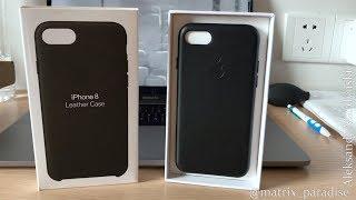 Apple iPhone 7/8 Leather Case - Якобы Оригинальный Кожаный Чехол для Айфона с TAOBAO