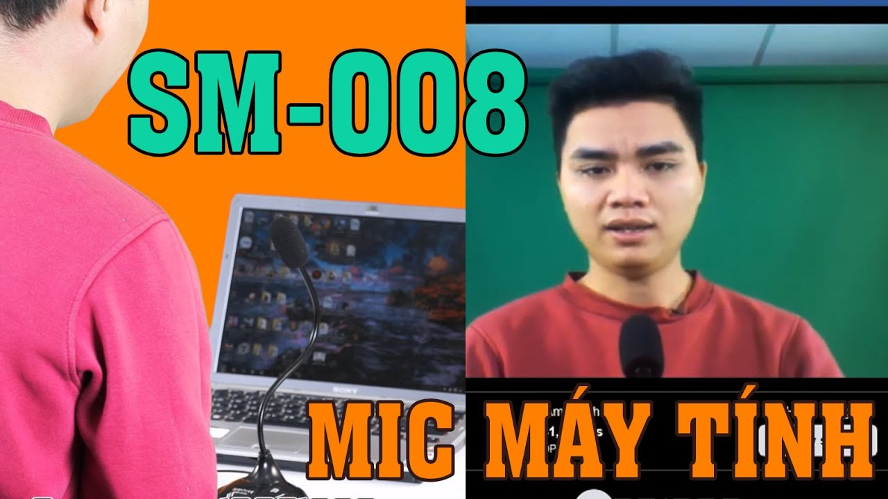 Mic để học trực tuyến, livestream trên máy tính, laptop, PC SENICC SM-008