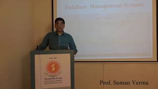 Lecture by Prof. Suman Verma