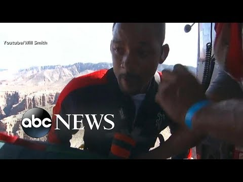 Willie Moore Jr. - WATCH! Will Smith bungee jumps into the Grand Canyon for charity