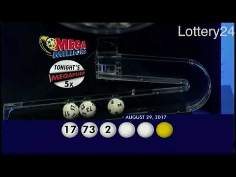 2017 08 29 Mega Millions Numbers and draw results