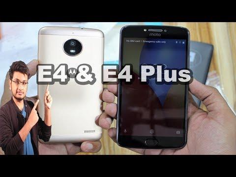 Motorola Moto E4 and E4 Plus Unboxing