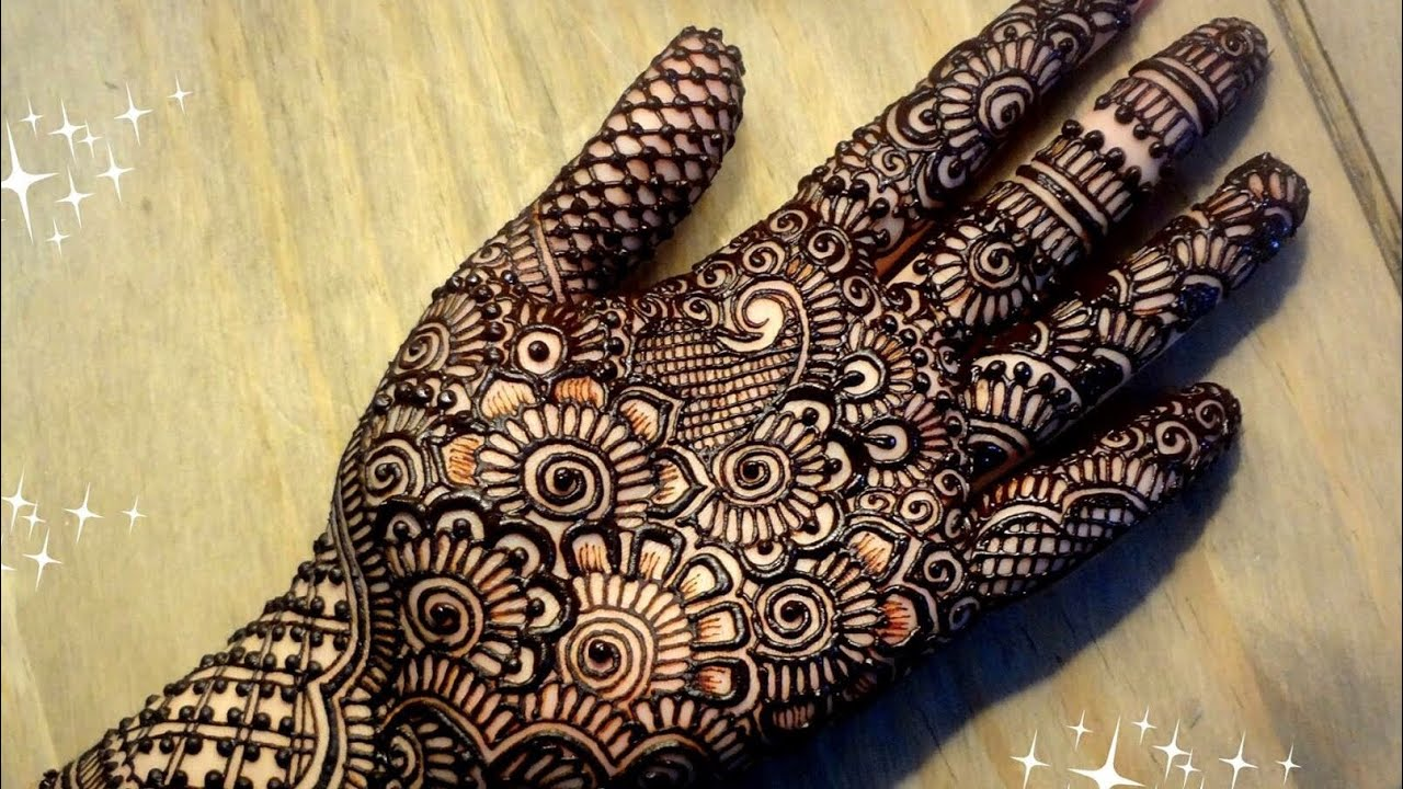 Mehndi Bridal Mehndi Design : Beautiful latest trendy stylish heavy bridal henna mehndi designs