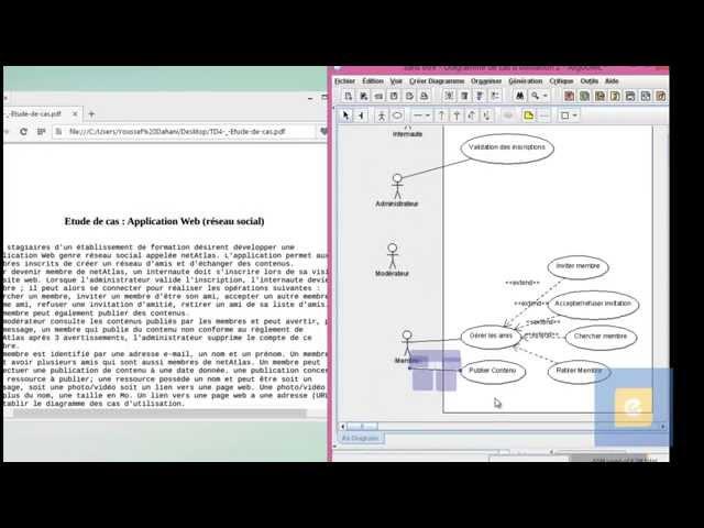 Exercice de synthèse : Diagramme de cas d'utilisation