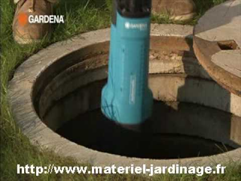 Pompe immerg gardena youtube for Pompe a eau de jardin