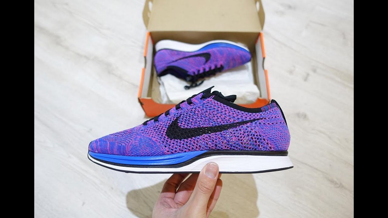 5acd66d2bc837 Nike Flyknit Racer Review- Game royal on feet with outfits - YouTube