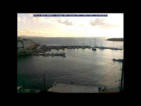 Port of Batsi in the Island of Andros in Greece