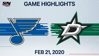 NHL Highlights | Blues vs. Stars - Feb. 21, 2020