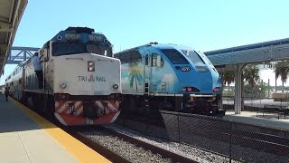 Amtrak PO98 With Viewliner Baggage Car And Rare Tri Rail Crew Change