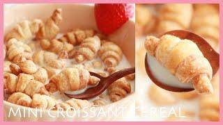 冷凍パイシートで/ミニクロワッサンシリアルの作り方/Mini Croissant Cereal Recipe/TAROROOM