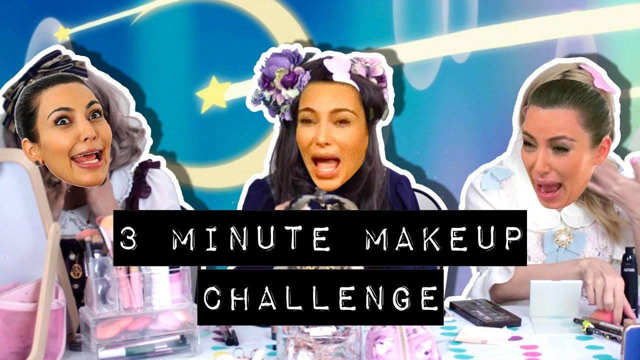 3 minute makeup challenge transformation with alice 39 s. Black Bedroom Furniture Sets. Home Design Ideas