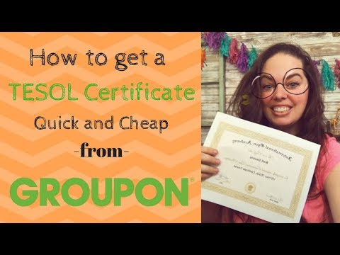 How to get a TESOL Certification quick and cheap!