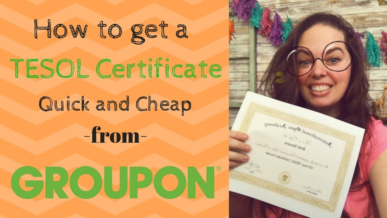 How To Get A Tesol Certification Quick And Cheap Youtube