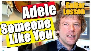 How to play Someone like you on guitar : Adele fingerstyle guitar lesson
