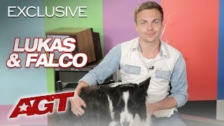 Lukas & Falco Describe Their Canine Freestyle Act on AGT - America's Got Talent 2019
