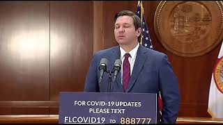 Florida Gov. Ron DeSantis gives updates on COVID-19 from Tallahassee