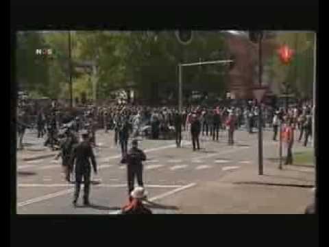 Car hits crowd during Dutch holiday parade