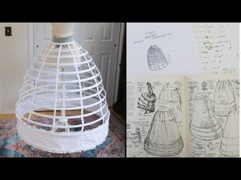 Making an 1850s Hoop Skirt / Cage Crinoline