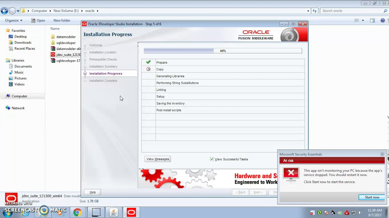 oracle jdeveloper 11g download for windows 7 64 bit
