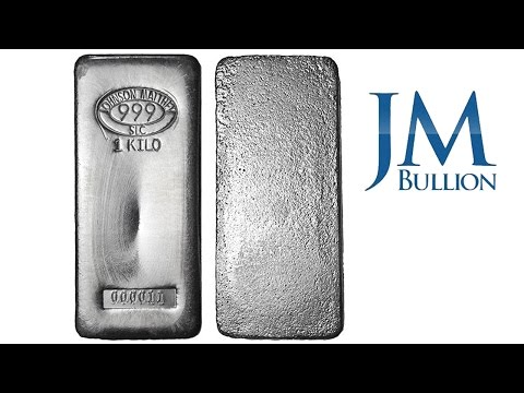 1 kilo Johnson Matthey Silver Bullion Bars ➜ JMBullion com