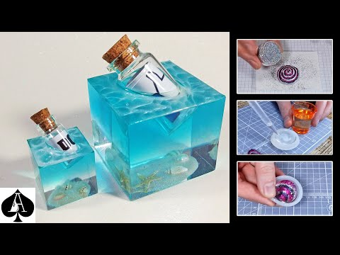 How to Make Mini Versions of my Message in a Bottle and Vortex Paperweights from Epoxy or UV Resin