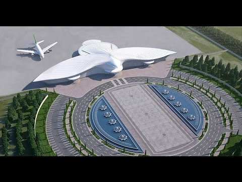 Turkmenistan's $2 billion bird-shaped international airport in Ashgabat