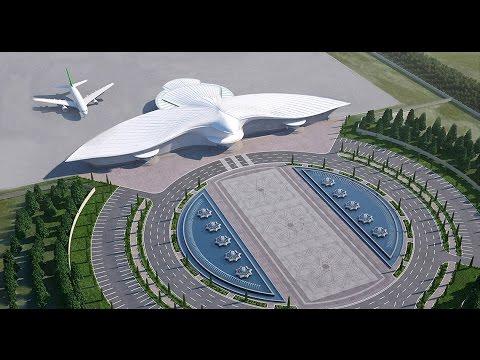 Turkmenistan's $2 billion bird-shaped international airport in Ashgabat