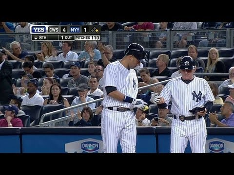 CWS@NYY: Jeter moves into ninth place in career hits