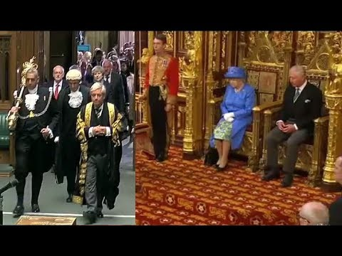 2017 06 21 UK Queen's speech | State Opening of Parliament | EU flag hat