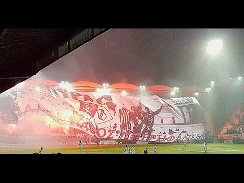 Ofi vs panathinaikos 2-1 The best greek coreo / fan banner ! 30/11/16