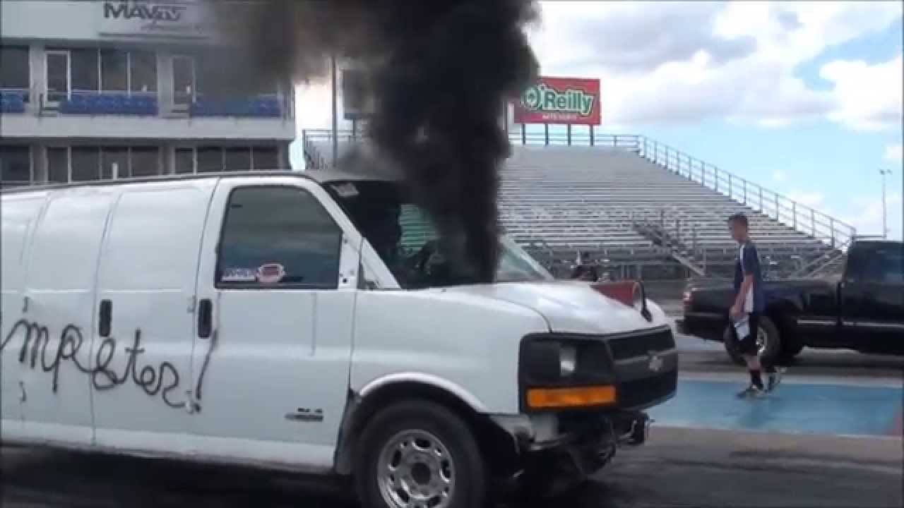 Duramax powered Chevy Express Van AKA The Dumpster - YouTube