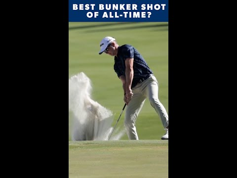 One of the best bunker shots you'll ever see 🔥