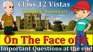 On The Face Of It | Important Questions | Vistas | Susan Hill | Class 12th | In Hindi