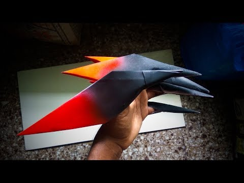How to Make a Paper Claws   Paper Wolverine Claws   Witch's Finger   Easy Halloween Crafts