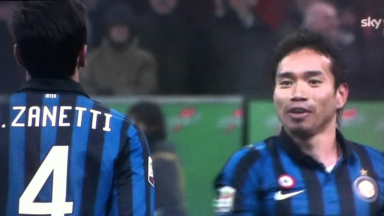 Saluto Giapponese il Capitano Javier Zanetti e Yuto Nagatomo