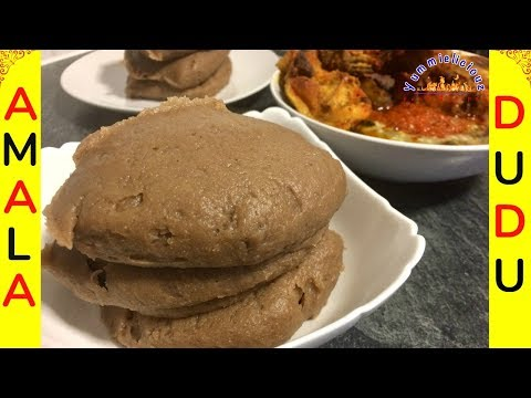 How to Make Amala Isu/Dudu | Nigerian food