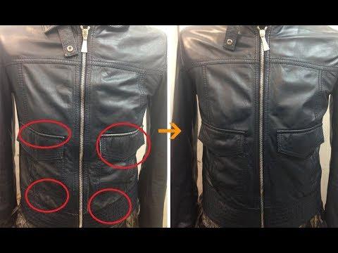 Как обновить черную кожаную куртку