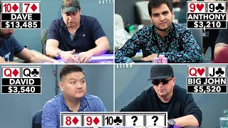 All In! All In! All In! FASCINATING Poker Scenario ♠ Live at the Bike!