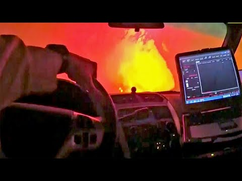 Officers Body Cam Captures Terrifying Moments During Wildfire Evacuatis
