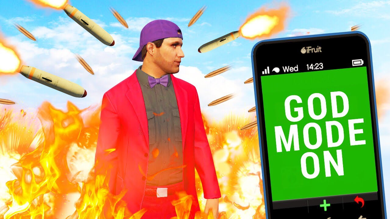 HOW TO USE GODMODE IN GTA ONLINE! (GTA 5 Funny Moments)