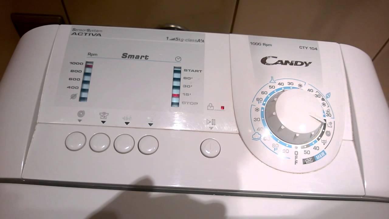 Как сделать сброс на стиральной машине candy