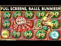 ★BALLS AND BUNNIES EVERYWHERE!★ MIGHTY CASH SLOT MACHINE - BIG WINS!