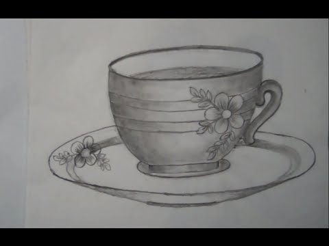 drawing of a cup and saucer youtube
