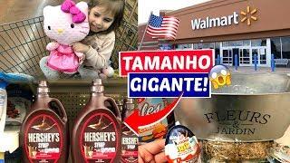 FAZENDO COMPRAS NO WALMART + MOSTRANDO COMPRAS DO DOLLAR TREE E WALMART