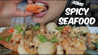 ASMR Thai Spicy SEAFOOD BOIL (EATING SOUNDS) NO TALKING | SAS-ASMR
