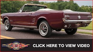 1966 Ford Mustang V8 Convertible (SOLD)