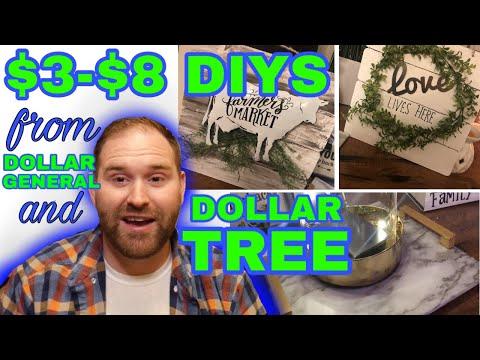 $3-$8 DIY Dollar Tree & Dollar General Farmhouse Crafts